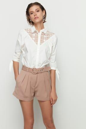Lace Cut Out Shirt