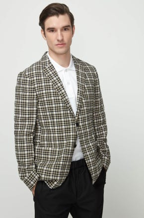 Checked Seersucker Blazer
