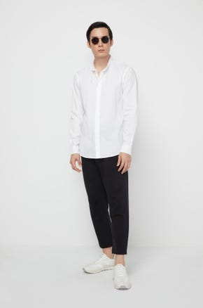 String Collar Shirt