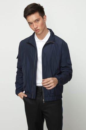 Nylon Zip Up Jacket