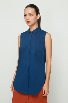 Sleeveless Side Zip Shirt