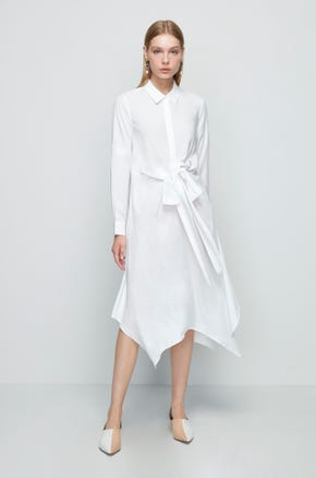Bow Tie Shirt Dress