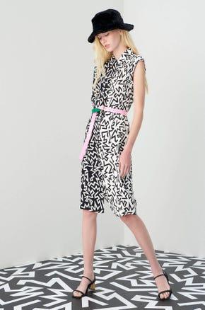 Jaspal x Hattie Zig Zag Shirt Dress
