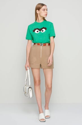 Oscar the Grouch Short Sleeve Sweatshirt