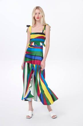 Multicolor Midi Skirt