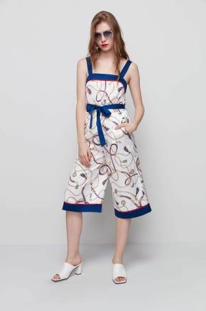 Printed Culotte Jumpsuit
