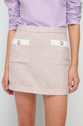 Pink Tweed Mini Skirt
