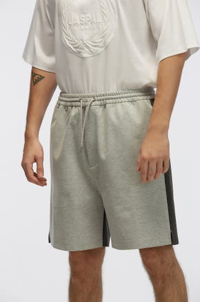 Two-Tone Sweat Shorts