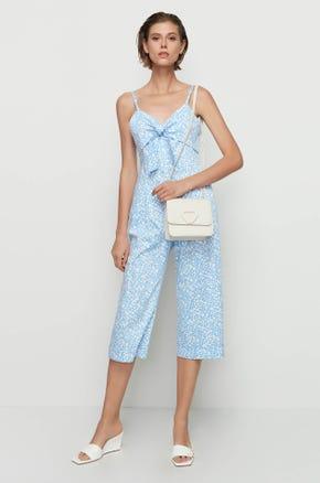 Blue Floral Jumpsuit