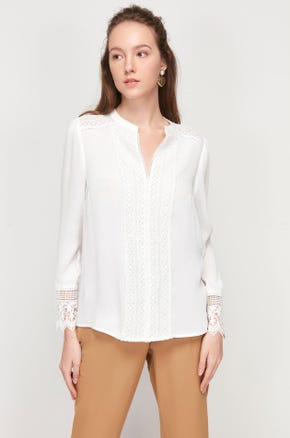 Lace V-Neck Blouse