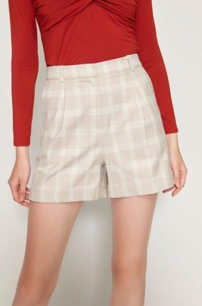 High Waisted Plaid Shorts