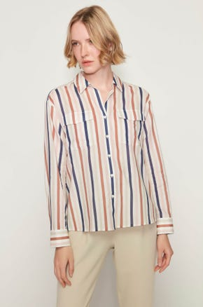 Striped Flap Pocket Shirt