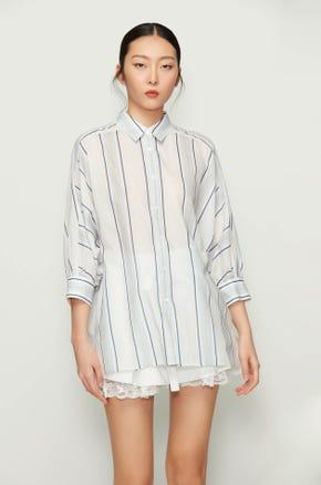 Striped Button Up Work Shirt