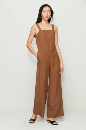 Brown Wide Leg Jumpsuit
