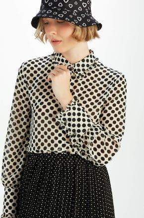 Polka Dot Button Up Shirt