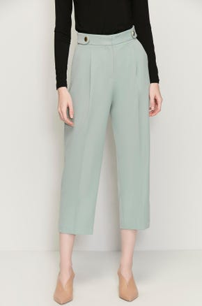 Side Strap Cropped Pants