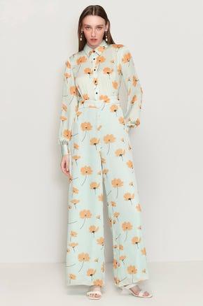 Long Sleeve Floral Jumpsuit
