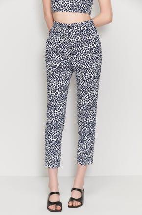 Leopard Cigarette Pants