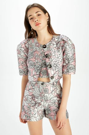 Floral Button Front Blouse