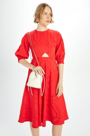 Red Keyhole Dress