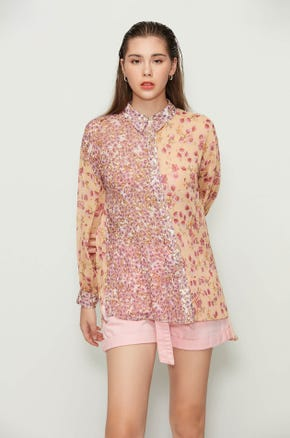 Oversized Mixed Floral Shirt