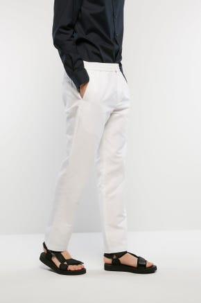 Elastic Waist Linen Pants