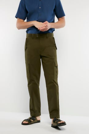Snap Button Cargo Pants