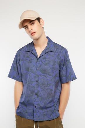Purple Petals Resort Shirt