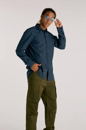 Navy Button Up Shirt