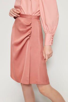 Draped A-Line Skirt