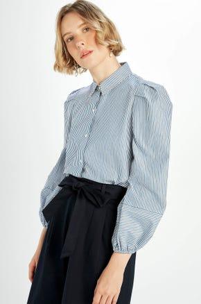 Striped Puff Sleeve Shirt
