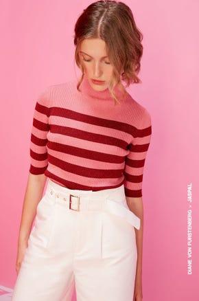 Pink Striped Sweatshirt