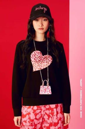 Heart Floral Sweatshirt