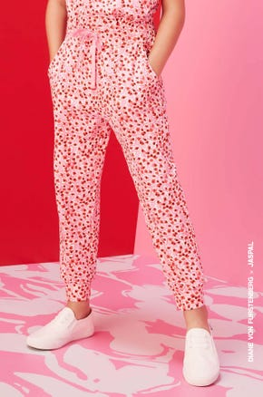 Petal Printed Drawstring Pants