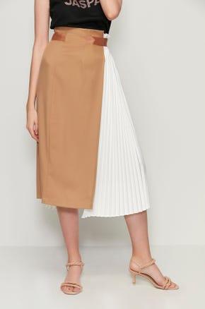 Two-Tone Midi Skirt