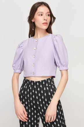 Cropped Purple Blouse