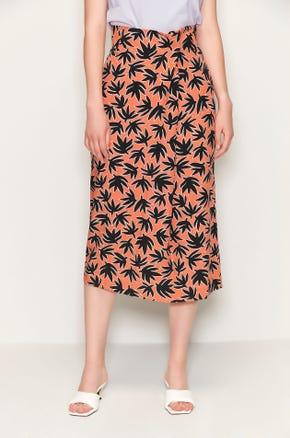 Graphic High Waisted Midi Skirt