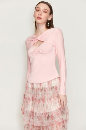 Ruched Cut Out T-shirt