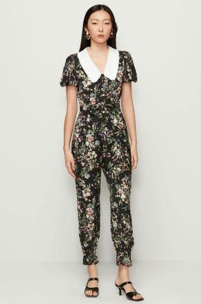 Floral Chelsea Collar Jumpsuit