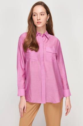 Sheer Flap Pocket Shirt