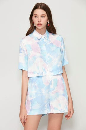 Tie Dye Crop Shirt