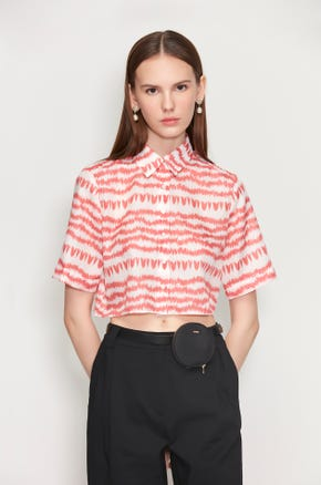 Graphic Cropped Shirt