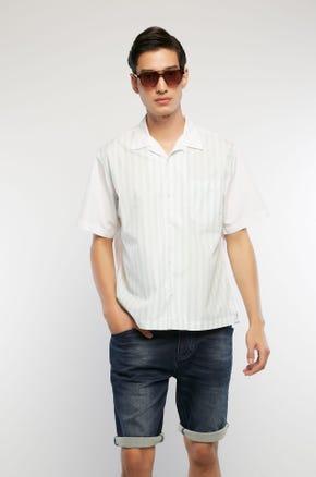 Striped Poplin Resort Shirt