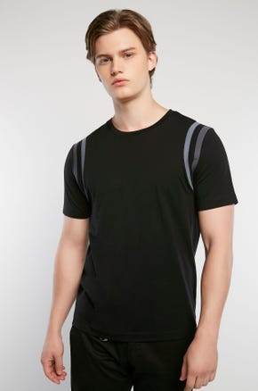 Shoulder Stripe T-Shirt