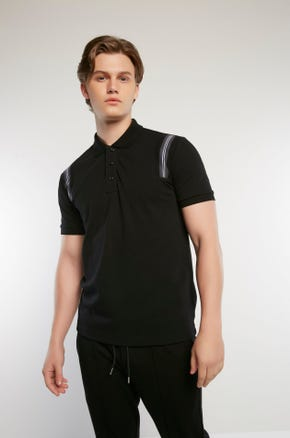 Shoulder Stripe Polo