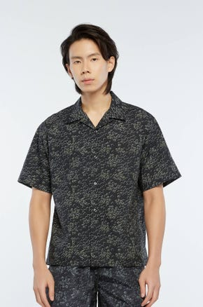 Black Printed Resort Shirt