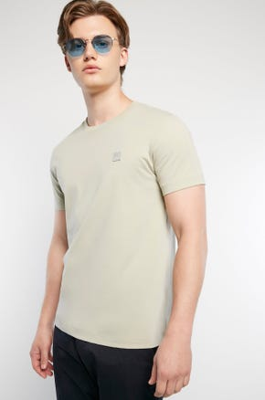Basic Color T-Shirt - Light Gray