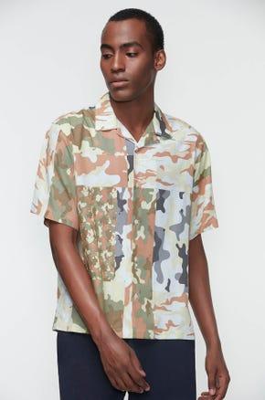 Camo Print Resort Shirt