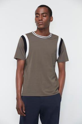 Striped Shoulder T-Shirt