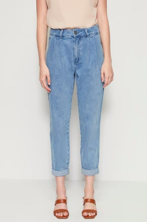 High Waisted Rolled Jeans